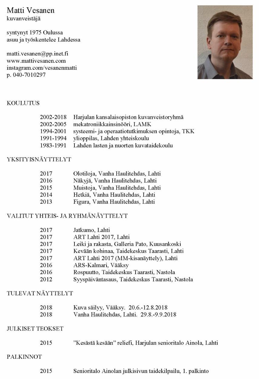 CV Matti Vesanen