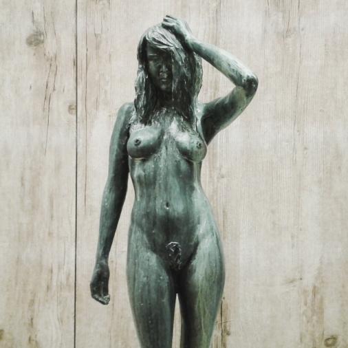 Tummia mietteitä, 2012, kivirouhe, hartsi, maali, 1300 €